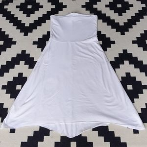White strapless bamboo dress aritzia sz m